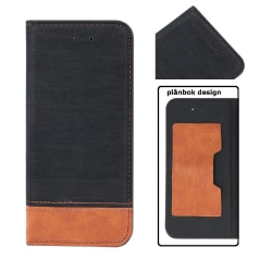 Sony Xperia XA2 - Smart Retro Fodral Mobilplånbok - Svart Black