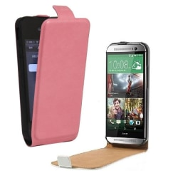 Sony Xperia Z2 - DeLuxe Leather Fodral Flip Case - Rosa Pink