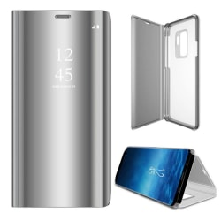 Xiaomi Mi Note 10 Lite - Smart Clear View Fodral - Silver Silver