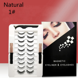 10 Pairs Magnetic Eyelashes Fake Eyelashes SET 1-NATURAL