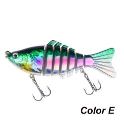 1PC Fishing Lure Bionic Bait Treble Hooks COLOR E