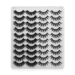 20 Pairs/set False Eyelashes 3D Faux Mink Thick Long YP201