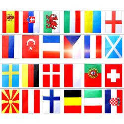 2021 EURO FOOTBALL BUNTING 24 europeiska flaggor 8,5M 8,5M