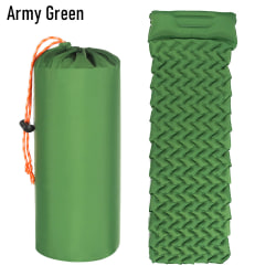 Camping Sleeping Pad Mat with Pillow ARMY GREEN