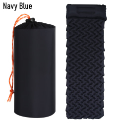 Camping Sleeping Pad Mat with Pillow NAVY BLUE