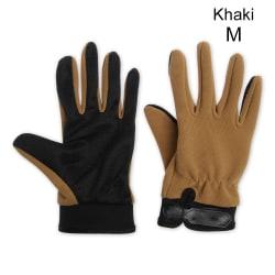 Cycling Gloves Full Finger Mittens Road Bike Gloves KHAKI M khaki M