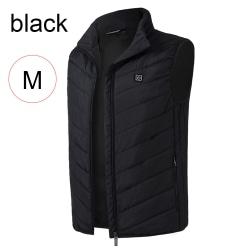 Electric Heating Vest USB Charge Thermal Jacket BLACK M black M