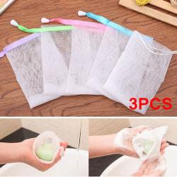 Random Color Soap Saver Bag Bath Shower Bubble Maker Mesh Net