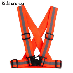 Reflective Vest Stripes Jacket Safety Stripes KIDS ORANGE kids orange