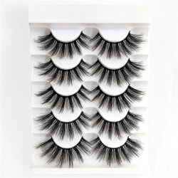 SKONHED 5 Pairs False Eyelashes 3D Faux Mink Eyelashes M06