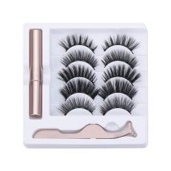 SKONHED 5 Pairs Magnetic Liquid Eyeliner Lash Set Magnetic