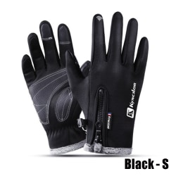 Touch Screen Gloves Winter Warm Mittens Waterproof BLACK S black S