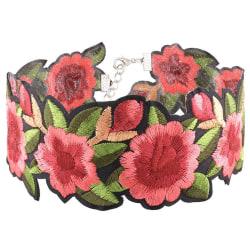 Halsband Choker Textil Blommor