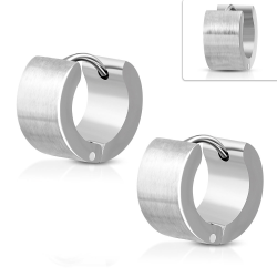 Örhängen Runda Rostfri stål Silver
