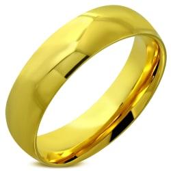 Ring Guldpläterad stålring  316L  Gold 21 mm