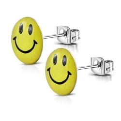 Stiftörhängen Stål 316L/Akryl emoji smiley