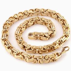 Guld Kejsarlänk i rostfritt stål med 18k  guldplätering, 8mm guld