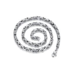 Kejsarlänk halsband i Stål , håller färgen livet ut! 5,5mm 65cm