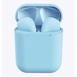 i12 TWS Trådlösa trådlösa hörlurar för alla Bluetooth Himmelsblå