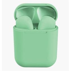 i12 TWS Trådlösa trådlösa hörlurar för alla Bluetooth V5.0 Grön