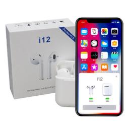 i12 TWS Trådlösa trådlösa hörlurar för alla Bluetooth V5.0  Vit