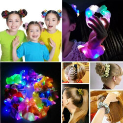 LED Glowing Hair Ropes Hair Band Ponytail Holder Scrunchies