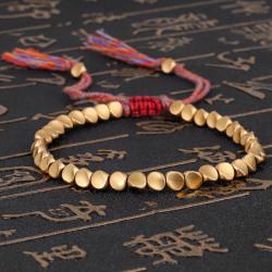 Tibetanska buddhistiska kopparpärlor Lucky Rope Armband Armband