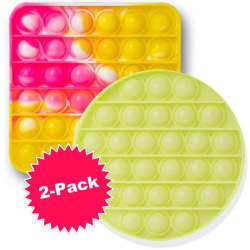 Pop-It 2-Pack Tie-Dye & Glow in the Dark Push Poppers Fidget Toy