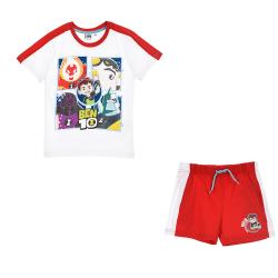 Ben 10 T-shirt och Shorts VIT 3A - 98 CM