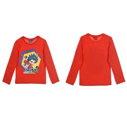 Beyblade Valt långärmad T-shirt Röd 3 ÅR - 98 CM