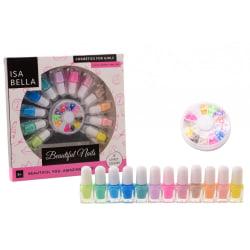 Dekorera naglarna med nagellack till barn i pastellfärger, 12 st