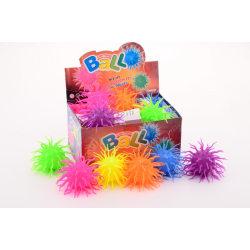 Fluffy stressboll med ljus till lek och avkoppling, 12 cm