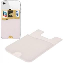 Kortbehållare som fästes på mobilen, upp till 6 kort, Vit