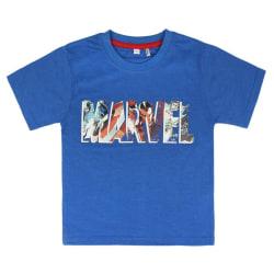 Marvel Avengers kortärmad Blå T-shirt 5/6 ÅR - 110/116 CM