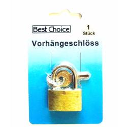 Praktiskt hänglås med tillhörande nyckel (1-pack)