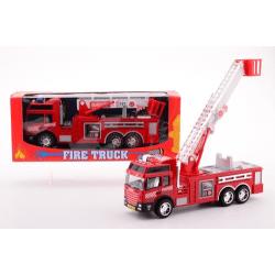 Stor brandbil med friktion, 25 cm
