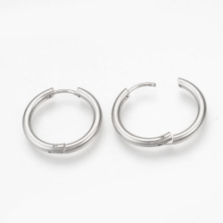 1 Par 19 mm Hoops örhängen i  316L kirurgiskt stål