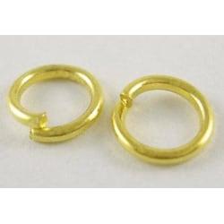10 gr. (280 st) Nickelfria guldpläterade motringar Ø  4mm.
