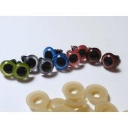 """10 par (20 st) Ögon till """"Amigurumi"""" 8 mm Ø  7 Blandade färger (2x5 färger"""
