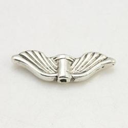 12 st. Nickelfria silverpläterade änglavingar 21x6,5, 2mm.tjocka