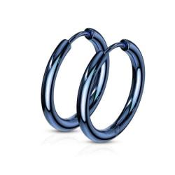 1Par 17 mm Hoops örhängen i IP blåpläterad 316L kirurgiskt stål