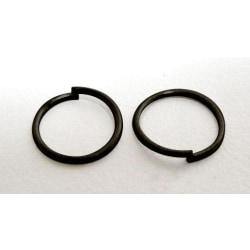 20 gr (Drygt 460 st.) Nickelfria Svarta motringar   Ø 6 mm.