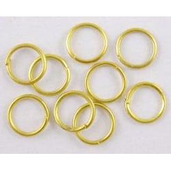 20 gr. (drygt 560 st) Guldpläterade motringar Ø  4mm.