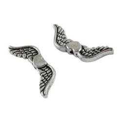 24 st.Nickelfria silverpläterade änglavingar 20x7 och 3 mm bred