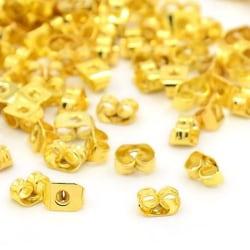 50 pack Guldpläterade Fjäril bakstycke till örhängen