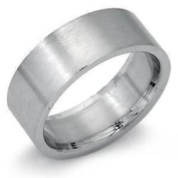 6 mm. bred slät ring i 316L stål 18 mm. i innerdiameter 18 mm