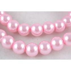 60 st Rosa glaspärlor 8 mm Ø idiameter