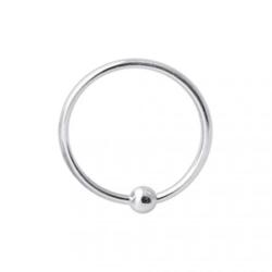 8 mm. Piercing ring  i 925 Sterling Silver med kula