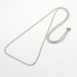 Unisex 70 cm. Pansar länk Halsband  i AISI 304 stål 3 mm bred