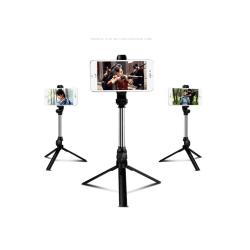 "Selfie Stick / Selfiepinne ""X10"" Svart 3 i 1 18.5cm"